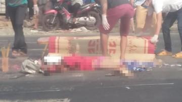 Bình Phước: Ô tô tải đâm liên hoàn hàng loạt xe máy, một cô gái chết thảm