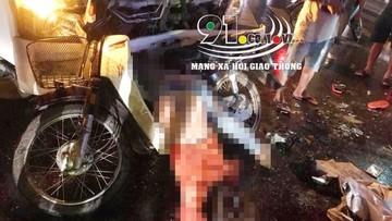 Hưng Yên: Xe cứu hộ tông trúng xe máy đang chờ sang đường, 1 phụ nữ tử vong, 3 trẻ nhỏ bị thương nặng