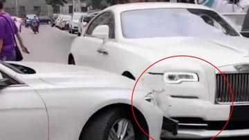 Cô gái 20 tuổi sáng lái Bentley, chiều cầm tài Rolls-Royce Wraith va chạm xe BMW