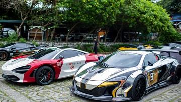 """Dàn siêu xe hơn 265 tỷ đồng của đoàn Car Passion 2019 nghỉ ngơi trước """"trận chiến"""" về Mộc Châu"""