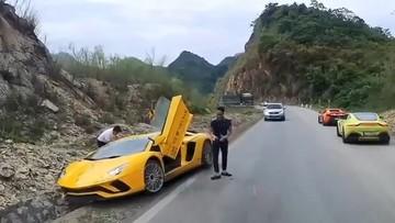 """Video Lamborghini Aventador S của doanh nhân quận 12 gặp nạn tại đường đèo, Cường """"Đô-la"""" ứng cứu"""