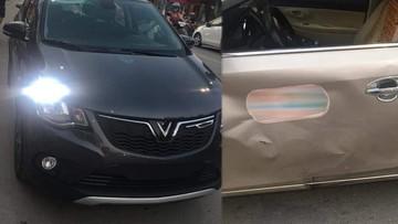 VinFast Fadil va chạm cùng Toyota Vios trên đường phố