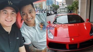 Thủ thành Đặng Văn Lâm khoe ngồi siêu xe Ferrari 488 GTB hơn 11 tỷ đồng của Tuấn Hưng