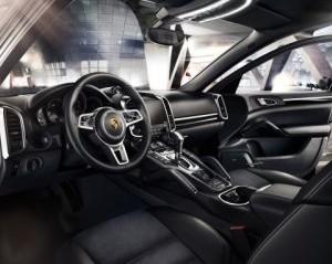 hàng ghế trước của Porsche Cayenne 2017