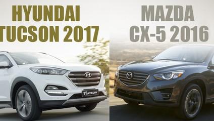 """So sánh xe Hyundai Tucson 2017 CKD và Mazda CX-5 2016: Chiến thắng có thuộc về """"tân binh""""?"""