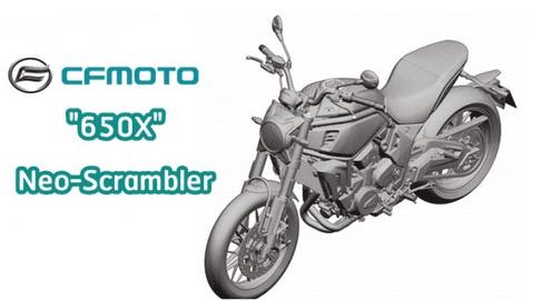 CFMoto 650X mang thiết kế Scrambler lộ diện khiến người dùng háo hức