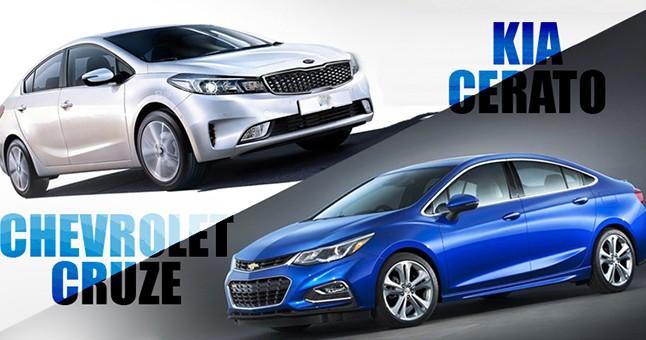 So sánh xe Chevrolet Cruze 2017 và Kia Cerato 2017: Sedan 700 triệu nào hấp dẫn hơn?