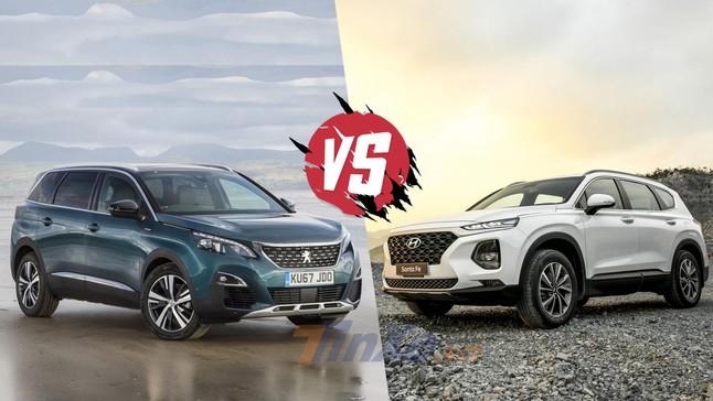 """Mua Hyundai Santa Fe 2019 kèm """"lạc"""" hay chọn Peugeot 5008 không đội giá?"""