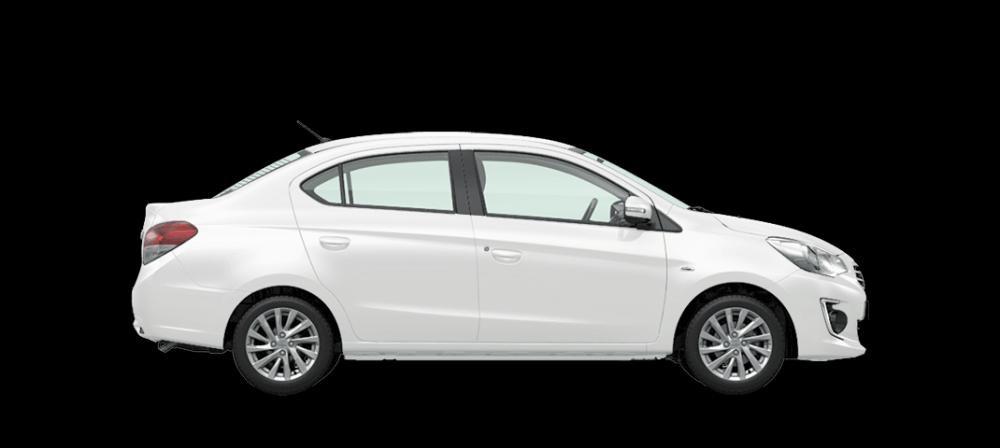 Mẫu Mitsubishi Attrage màu trắng