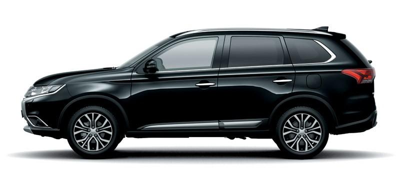 Mẫu Mitsubishi Outlander màu đen