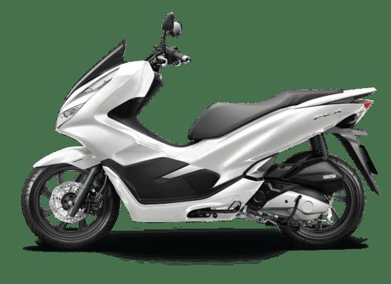 Mẫu Honda PCX màu trắng đen
