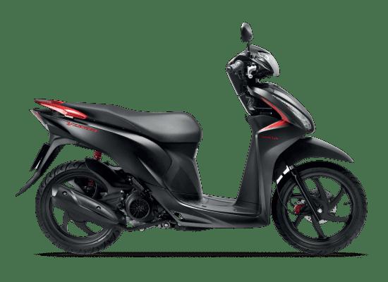 Mẫu Honda Vision màu đen đỏ