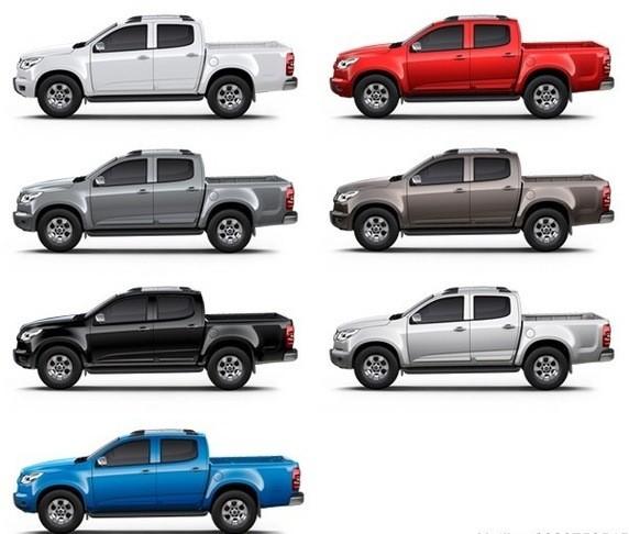 Màu sắc ngoại thất của Chevrolet Colorado
