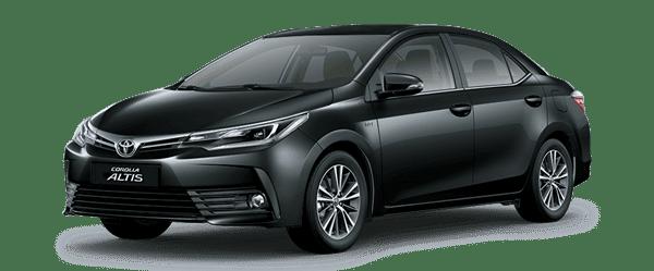 Mẫu Toyota Corolla Altis màu đen