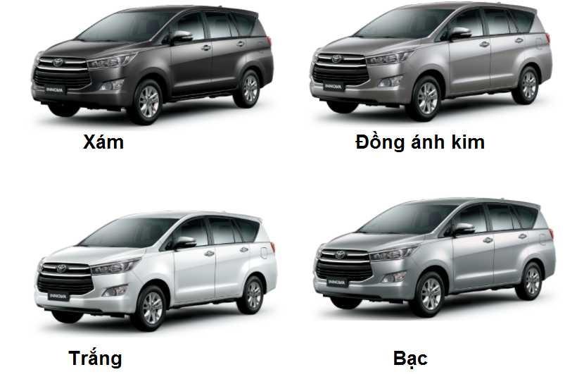 Màu sắc ngoại thất của Toyota Innova E-V-G
