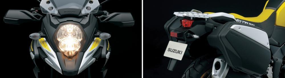 Hệ thống chiếu sáng trên Suzuki V-Strom 1000 ABS ứng dụng công nghệ LED