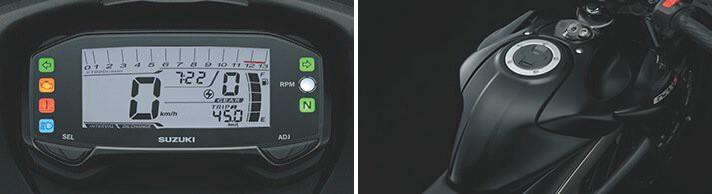 Đồng hồ Suzuki GSX-S150 trang bị đồng hồ kỹ thuật số hiện đại