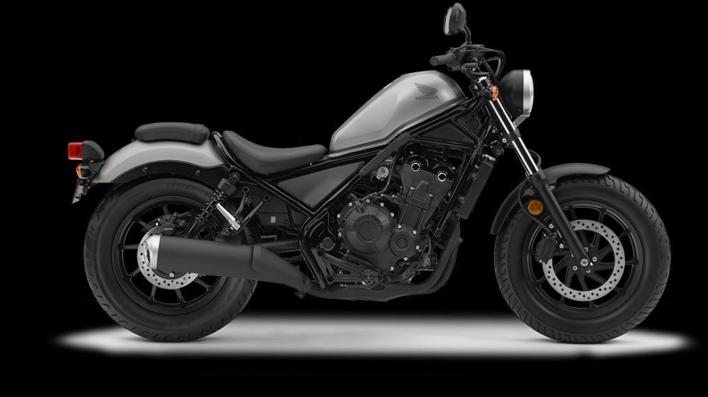 Mẫu Honda Rebel 500 màu bạc đen