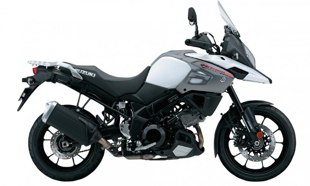 Mẫu Suzuki V-Strom 1000màu trắng đen