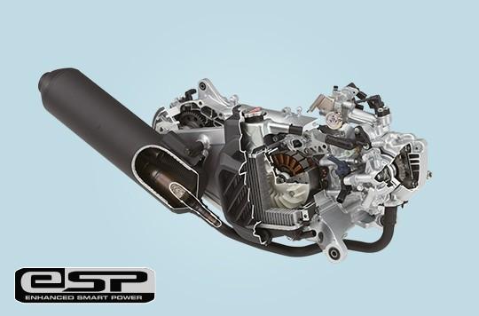 Xe sử dụng khối động cơ eSP 124,8cc tiết kiệm nhiên liệu
