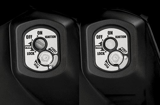 Trang bị ổ khóa trên Honda Blade 110