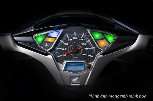 Thiết kế mặt đồng hồ của Honda Air Blade