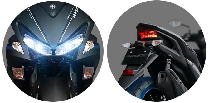 Trang bị hệ thống chiếu sáng trên Yamaha NVX
