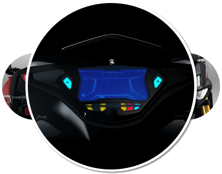 Trang bị Cụm đồng hồ kỹ thuật số trên xe máy Yamaha NVX