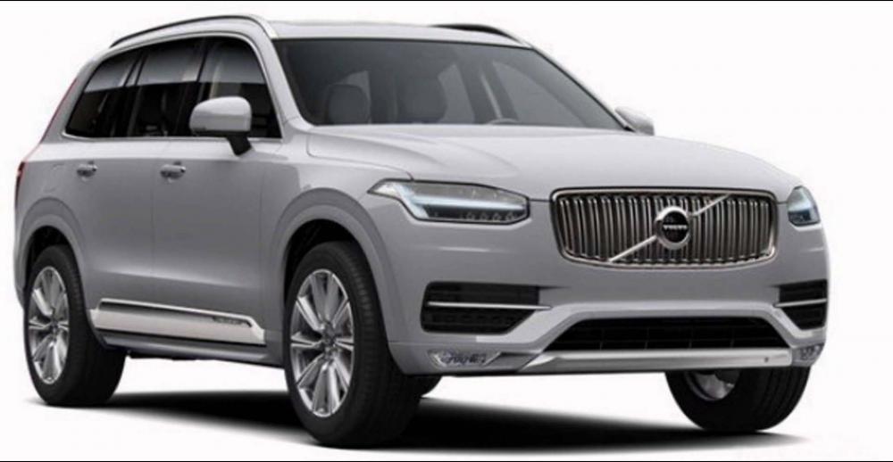 Volvo XC90 2019màu bạc (bright silver)