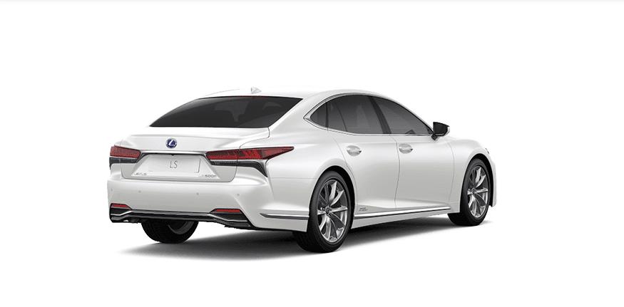 Ngoại thất Lexus LS màu trắng