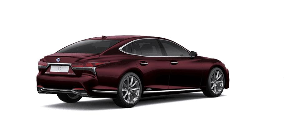 Ngoại thất Lexus LS màu đỏ nâu