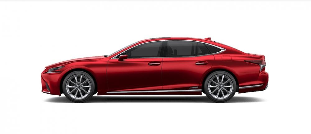 Ngoại thất Lexus LS màu đỏ