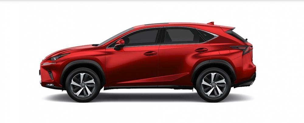 Ngoại thất Lexus NX màu đỏ