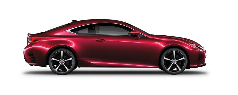 Ngoại thất của Lexus RC màu đỏ