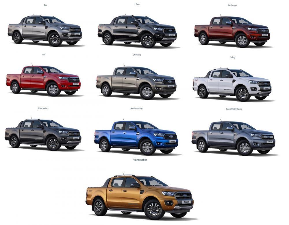 Tùy chọn màu sắc ngoại thất của xe Ford Ranger
