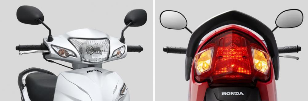 Cụm đèn pha và đèn hậu trên Honda Wave Alpha
