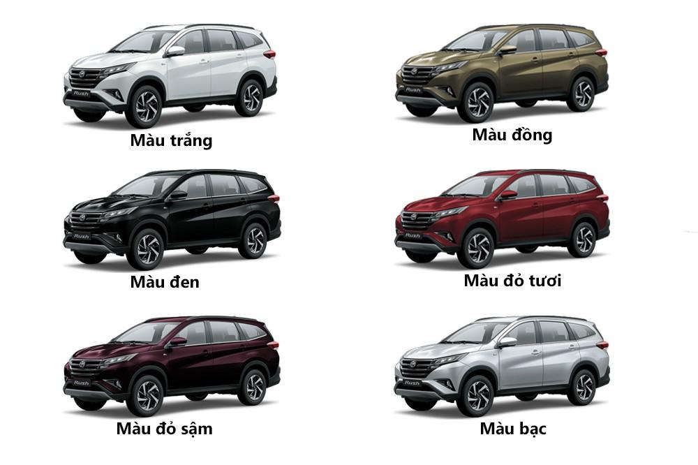 Bảng màu của Toyota Rush 2019
