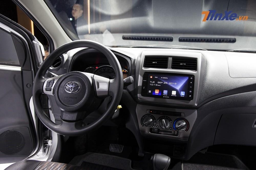 Nội thất của Toyota Wigo 2019khá đơn giản