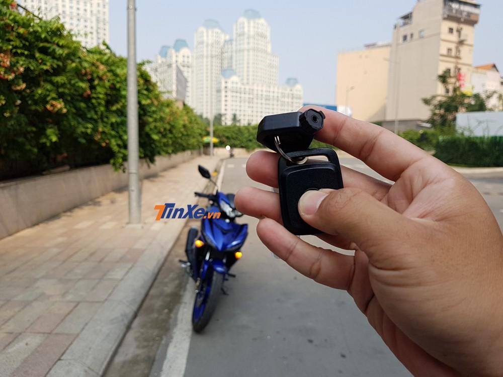 Phạm vi tìm xe của chìa khoá định vị trên Exciter 150 2019 là trong bán kính 20m