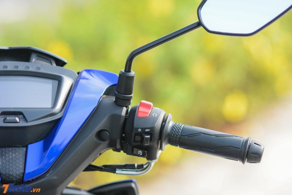 Việc trang bị thêm công tắc ngắt/bật động cơ cho Yamaha Exciter 150 2019 khá tiện lợi