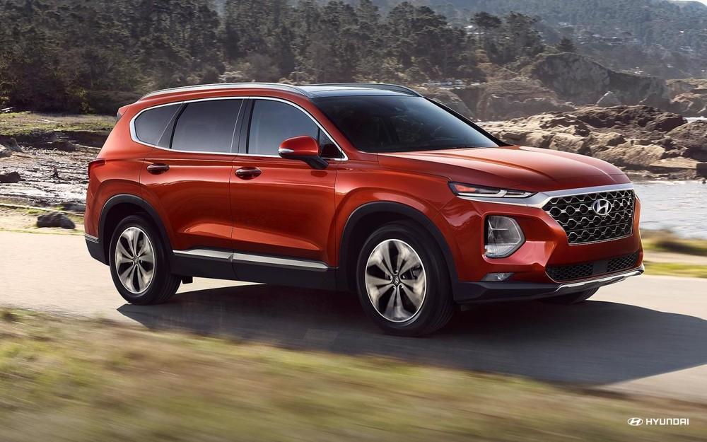 Hyundai Santa Fe 2019 màu đỏ