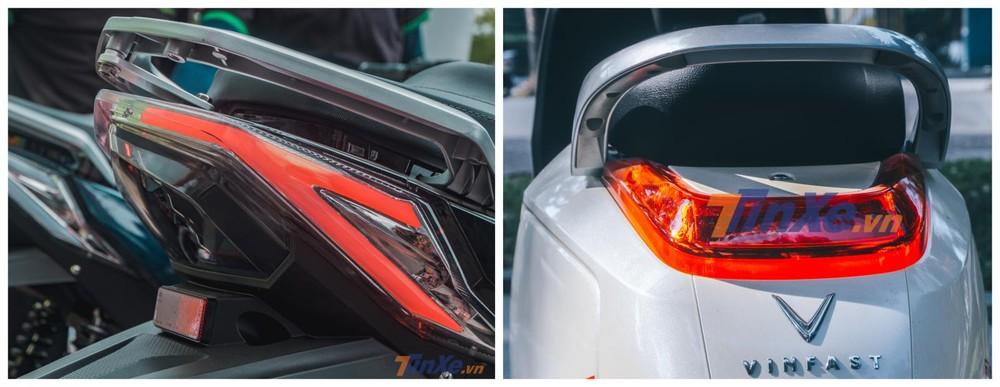 So sánh xe máy điện NewTech Pega (trái) và Vinfast Klara (phải)
