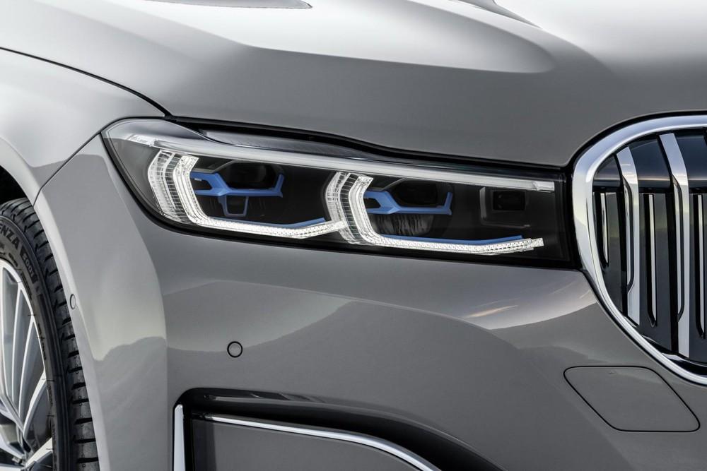 Cận cảnh cụm đèn pha laser tùy chọn của BMW 7-Series 2020