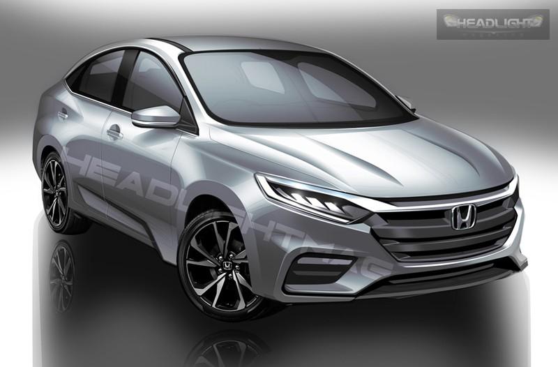 Hình ảnh phác họa của Honda City 2020