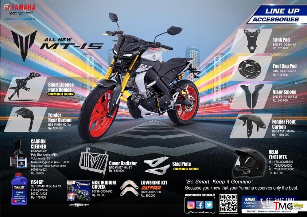 Các loại đồ chơi và phụ kiện lắp thêm cho Yamaha MT-15
