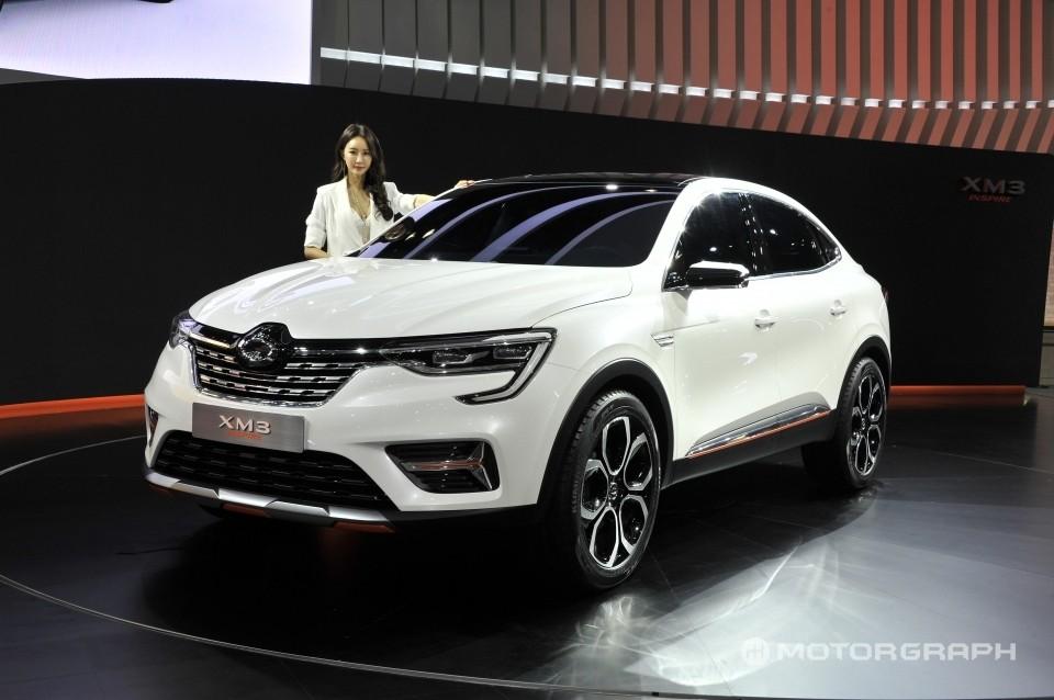 Cận cảnh thiết kế đầu xe của Renault Samsung XM3 Inspire Concept
