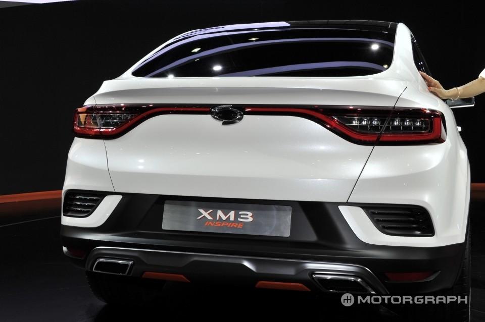 Cụm đèn hậu nối liền của Renault Samsung XM3 Inspire Concept