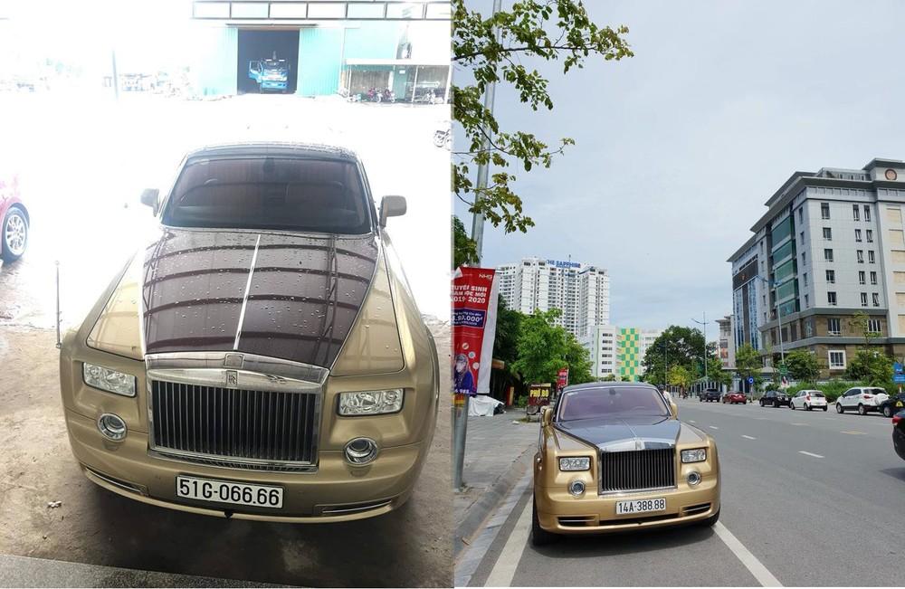 Rolls-Royce Phantom có màu sơn độc nhất vô nhị tại Việt Nam đeo biển số tứ quý 6 và hiện tại là tứ quý 8