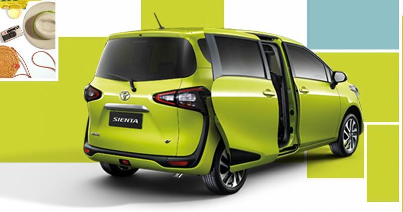 Thiết kế đuôi xe của Toyota Sienta 2019 không có gì mới