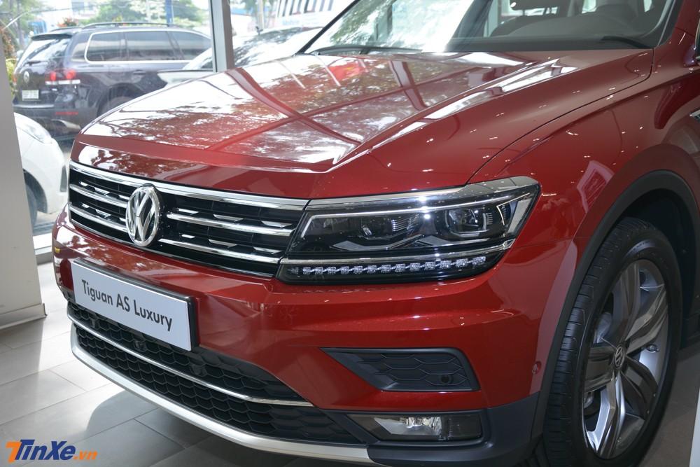 Thiết kế của Volkswagen Tiguan Allspace Luxury không có gì thay đổi so với bản tiêu chuẩn